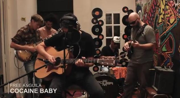 MIRÁ EL VIDEO: Free Anguila – «Cocaine Baby» en Living Sessions Red Moskito Radio